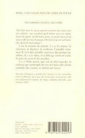 Des phrases courtes, ma chérie - 4ème de couverture - Format classique