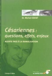 Cesariennes questions effets enjeux - Intérieur - Format classique