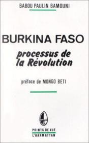 Burkina Faso ; processus de la révolution - Couverture - Format classique