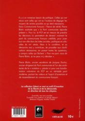 Communisme français : l'heure de vérité - 4ème de couverture - Format classique