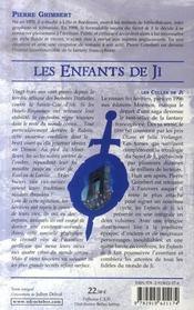 Les enfants de ji t.1 - 4ème de couverture - Format classique
