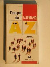 Pratique De L'Allemand De A A Z - Intérieur - Format classique