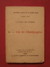 La peine des hommes, II - vin de Champagne - Couverture - Format classique