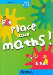 Place Aux Maths Ce1 Cycle 2 - Intérieur - Format classique
