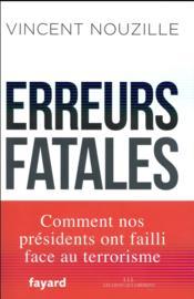 Erreurs fatales - Couverture - Format classique