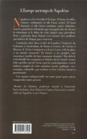 L'Europe au temps de Napoléon - 4ème de couverture - Format classique