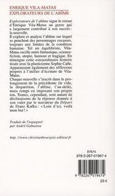 Explorateurs de l'abîme - 4ème de couverture - Format classique