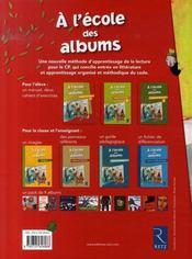 A L'Ecole Des Albums Cp - Serie 1 ; Manuel ; Méthode De Lecture - 4ème de couverture - Format classique