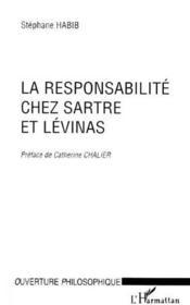 Responsabilité chez Sartre et Lévinas - Couverture - Format classique