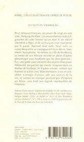 Les Nuits De Strasbourg Babel 584 - 4ème de couverture - Format classique