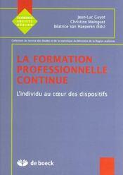 Formation professionnelle continue 1 (la) - Intérieur - Format classique