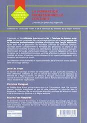 Formation professionnelle continue 1 (la) - 4ème de couverture - Format classique