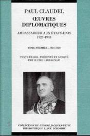 Oeuvres diplomatiques t.1 - Couverture - Format classique