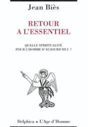 Retour A L'Essentiel - Couverture - Format classique