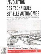 L'evolution des techniques est elle autonome - Couverture - Format classique