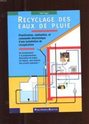 Recyclage des eaux pluie - Couverture - Format classique