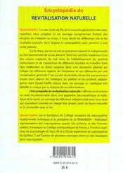 Encyclopedie De Revitalisation Naturelle - 4ème de couverture - Format classique