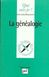 Genealogie (la) - Intérieur - Format classique