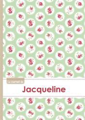Le Carnet De Jacqueline - Lignes, 96p, A5 - Roses Tea Time - Couverture - Format classique