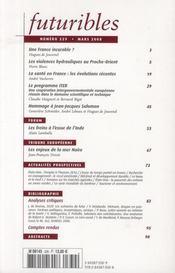 Futuribles t.339 ; les violences hydrauliques ; ITER : un modèle de coopération ; les freins à l'essor de l'Inde ; les enjeux de la mer Noire - 4ème de couverture - Format classique