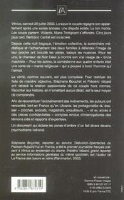 Mort A Vilnius ; L'Affaire Trintignant-Cantat - 4ème de couverture - Format classique