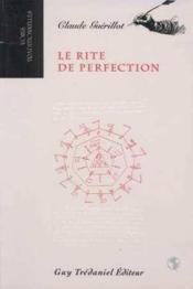 Le rite de perfection - Couverture - Format classique