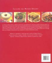 Cuisine du moyen-orient - 4ème de couverture - Format classique