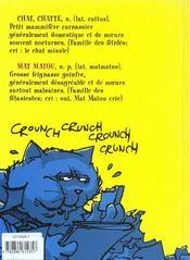 Mat Matou t.1 ; retombe toujours sur ses pattes - 4ème de couverture - Format classique