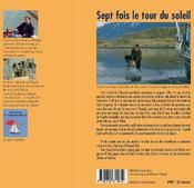 Sept fois le tour du soleil - 4ème de couverture - Format classique