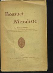 Bossuet Moraliste. - Couverture - Format classique