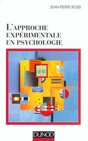 L'approche experimentale en psychologie - 7eme edition - Intérieur - Format classique