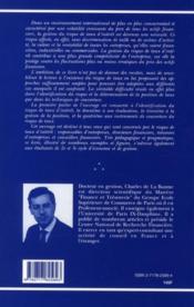 Gestion Du Risque De Taux Interet - 4ème de couverture - Format classique
