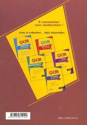 Qcm Svt Terminale S 240 Vrai Faux 184 Qcm Avec Reponses Commentees 50 Exercices Corriges Nouveau Prg - 4ème de couverture - Format classique