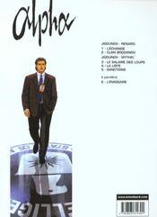 Alpha t.3 ; le salaire des loups - 4ème de couverture - Format classique