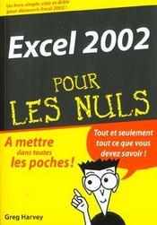 Excel ; editon 2002 - Intérieur - Format classique