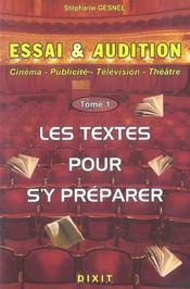 Essai Et Audition Tome 1 - Intérieur - Format classique