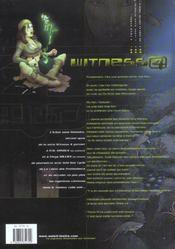 Witness 4 t.2 ; l'icône sans mémoire - 4ème de couverture - Format classique