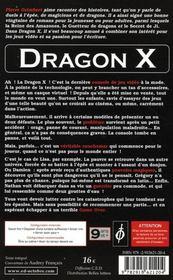 Dragon X - 4ème de couverture - Format classique