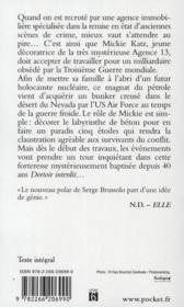 Agence 13 t.1 ; dortoir interdit - 4ème de couverture - Format classique
