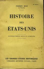 Histoire Des Etats-Unis. - Couverture - Format classique