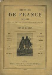 HISTOIRE DE FRANCE POPULAIRE DEPUIS LES TEMPS LES PLUS RECULES JUSQU'A NOS JOURS. 1e SERIE, CHAPITRE PREMIER. - Couverture - Format classique