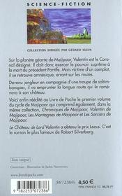 Le cycle de Majipoor T.1 ; le château de Lord Valentin - 4ème de couverture - Format classique