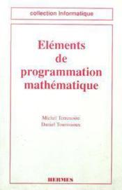 Elements de programmation mathematique - Couverture - Format classique