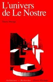 Univers De Le Nostre (L') - Couverture - Format classique