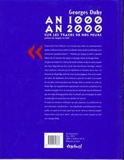 An 1000, an 2000, sur les traces de nos peurs - 4ème de couverture - Format classique