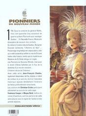 Les pionniers du nouveau monde t.5 ; du sang dans la boue - 4ème de couverture - Format classique