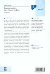 Images et sociétés dans l'Europe moderne - Couverture - Format classique