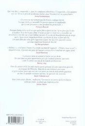 Revue La Regle Du Jeu N.33 ; Benny Lévy, Témoignages - 4ème de couverture - Format classique