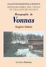 Monographie de Vonnas - Couverture - Format classique