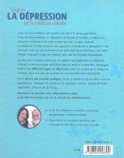 Soigner La Depression Par La Medecine Chinoise - 4ème de couverture - Format classique